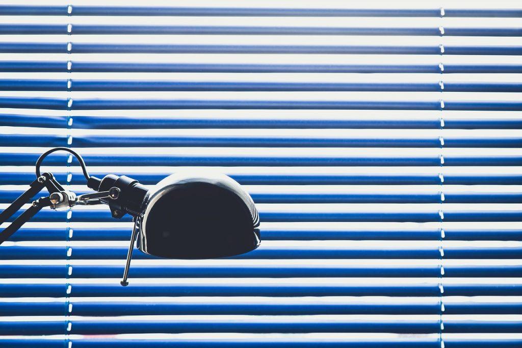 Blue Blinds Lamp Desk Window  - StockSnap / Pixabay